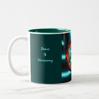 Peace &Harmony, Cin... Two-Tone Coffee Mug