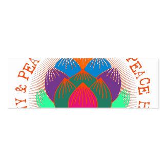 Peace Harmony Lotus Flower Business Card