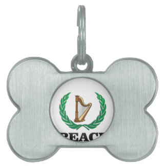 peace harp pet tags