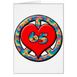 Peace, Heart 65 Greeting Card