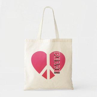 """Peace Heart"" Budget Tote"