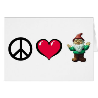 Peace Heart Gnome by FreeWitch Greeting Card