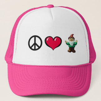 Peace Heart Gnome Cap