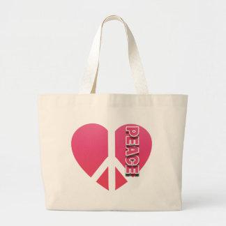"""""""Peace Heart"""" Jumbo Tote"""