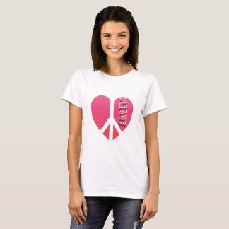 """""""Peace Heart"""" Women's Basic T-Shirt"""