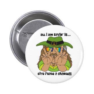 Peace Hippie! 2 Inch Round Button