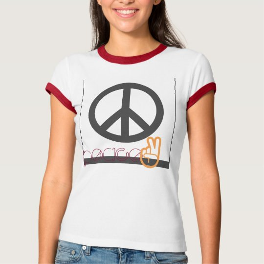 Peace hippie teen cute ringer tee emoji cute