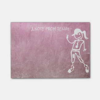 Peace Hipster Street Chalkboard Pink Cement Wall Post-it® Notes