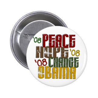 Peace Hope Change Obama 1 2 Inch Round Button