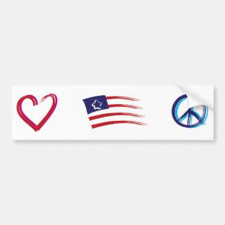 Peace Hope Love Bumper Sticker