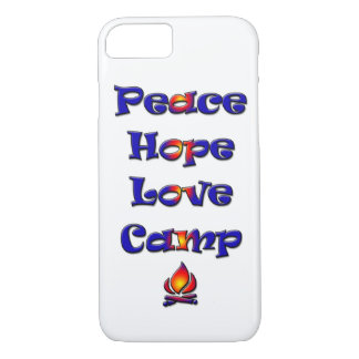 Peace Hope Love Camp campfire iPhone 7 Case
