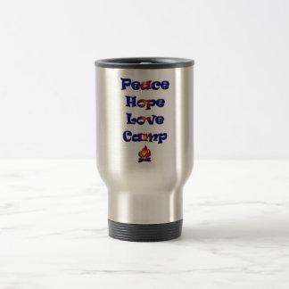 Peace Hope Love Camp! Travel Mug