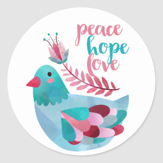 Peace, Hope, Love sticker