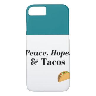 Peace, Hope, & Tacos iPhone 7 Case