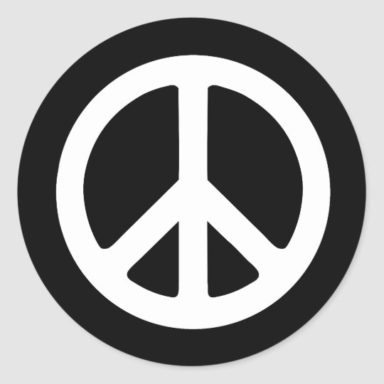 Peace Ideology Classic Round Sticker