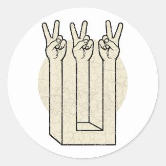 Peace Illusion Classic Round Sticker