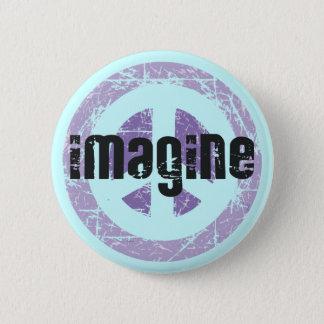 Peace - Imagine Peace 2 Inch Round Button