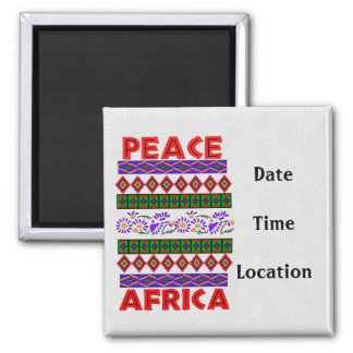 Peace In Africa Square Magnet