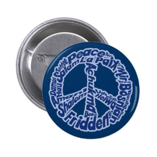 Peace in all Languages 2 Inch Round Button