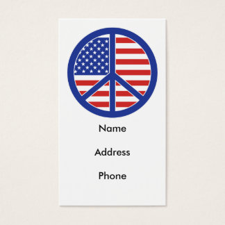 Peace in America Business Card