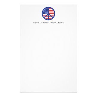 Peace in America Personalized Stationery