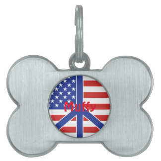 Peace in America Pet ID Tag