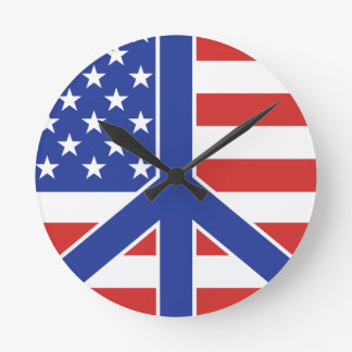 Peace in America Round Clock
