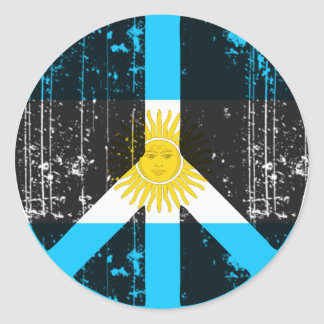 Peace In Argentina Classic Round Sticker