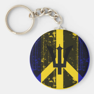 Peace In Barbados Keychain