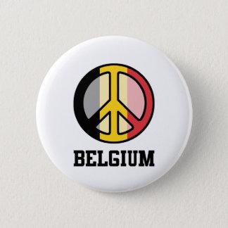 Peace In Belgium 2 Inch Round Button