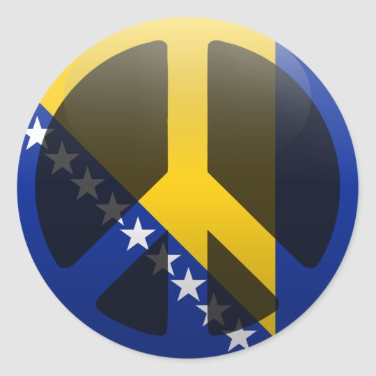 Peace in Bosnia and Herzegovina Classic Round Sticker