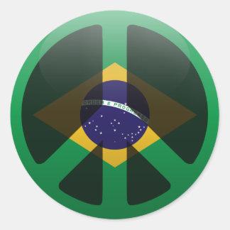 Peace in Brazil Classic Round Sticker