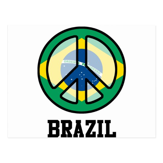 Peace In Brazil Postcard