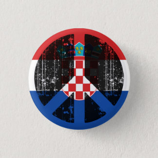 Peace In Croatia 1 Inch Round Button