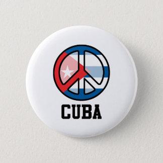Peace In Cuba 2 Inch Round Button