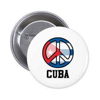 Peace In Cuba 2 Inch Round Button