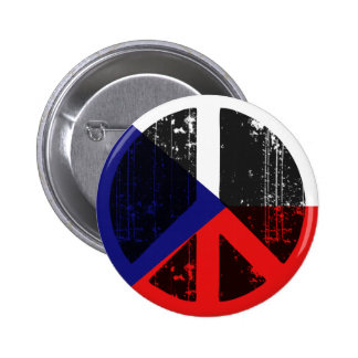 Peace In Czech 2 Inch Round Button