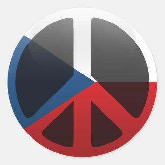 Peace in Czech Republic Classic Round Sticker