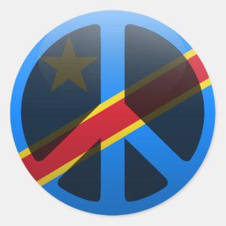 Peace in Democratic Republic of Congo Round Sticker