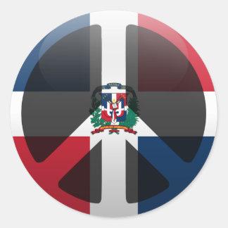 Peace in Dominican Republic Classic Round Sticker