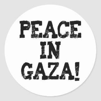 Peace in Gaza Buttons and T-Shirts! Classic Round Sticker