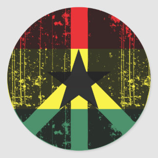 Peace In Ghana Classic Round Sticker