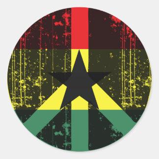 Peace In Ghana Round Sticker