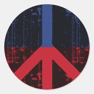 Peace In Haiti Classic Round Sticker