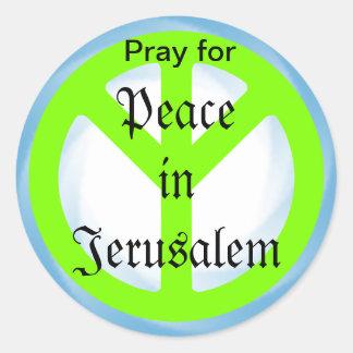 Peace in Jerusalem sticker