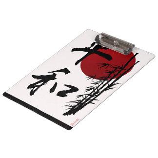 Peace in Kanji Clipboards