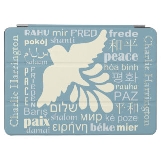 PEACE in languages custom name device covers iPad Air Cover