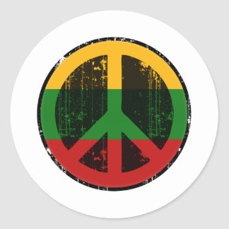Peace In Lithuania Round Sticker