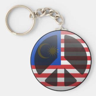 Peace in Malaysia Keychain
