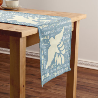 PEACE in many languages custom color table runner